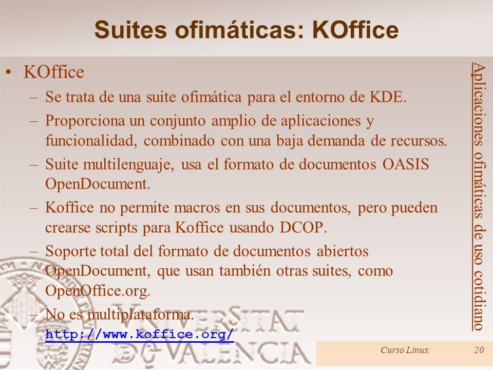 Suites ofimáticas: KOffice