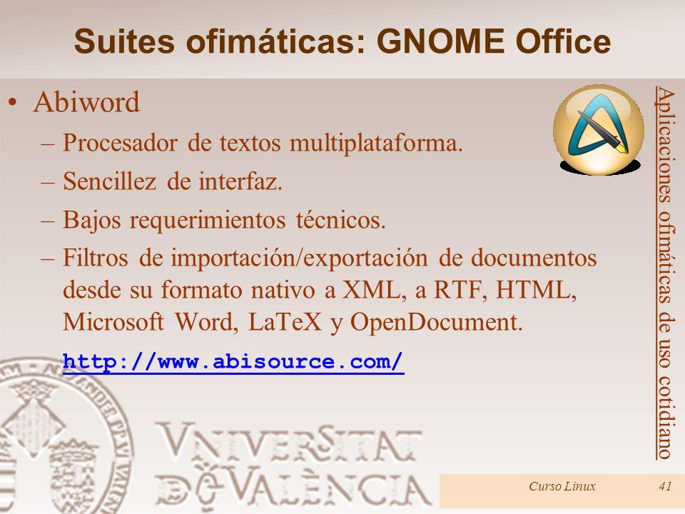 Suites ofimáticas: GNOME Office