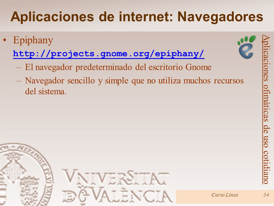 Aplicaciones de internet: Navegadores