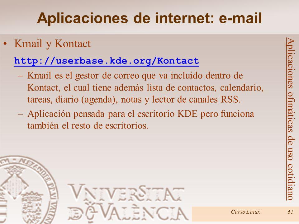 Aplicaciones de internet: e-mail