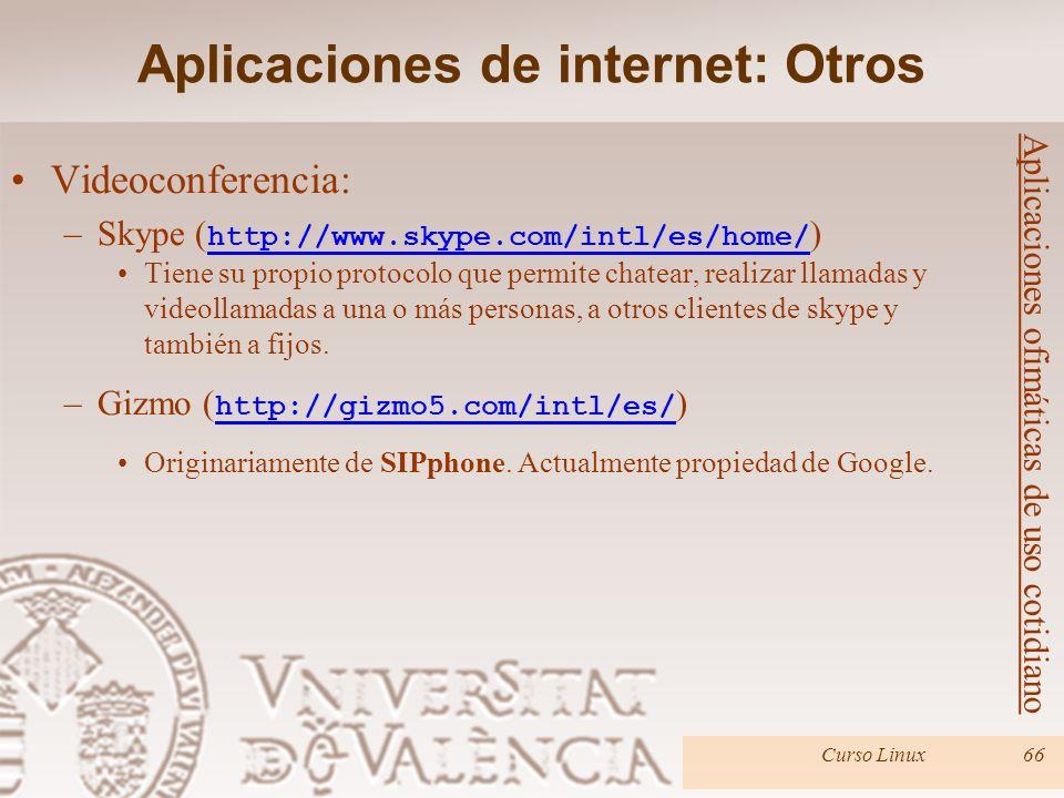Aplicaciones de internet: Otros