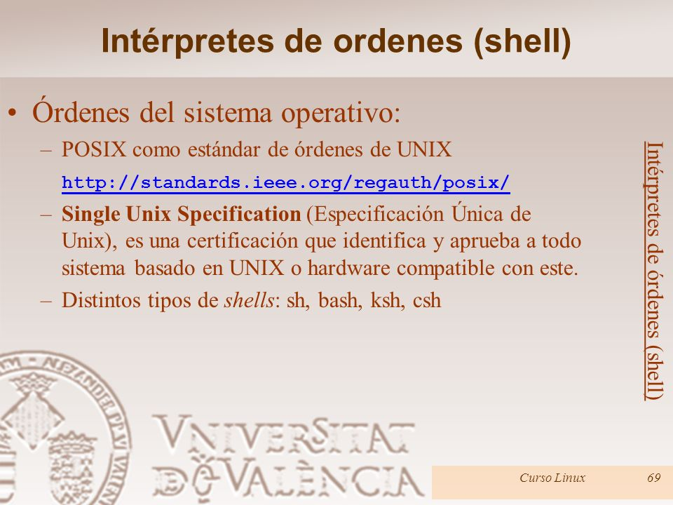 Intérpretes de ordenes (shell)