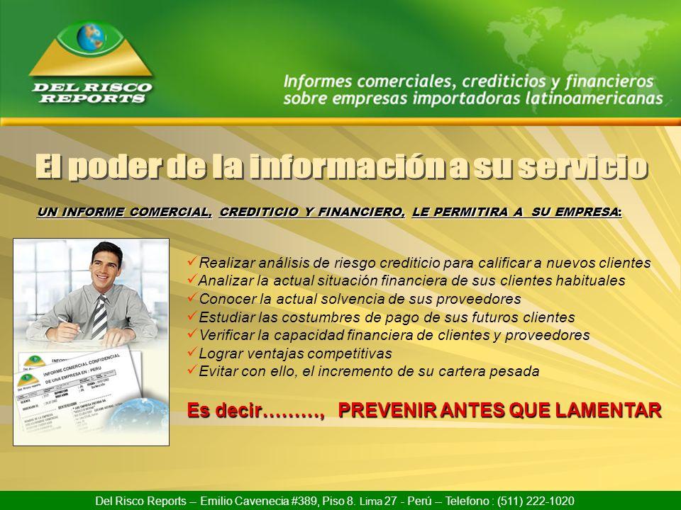 El poder de la información a su servicio