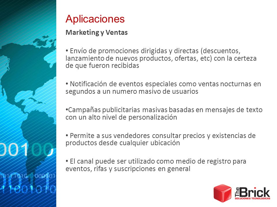 Aplicaciones Marketing y Ventas