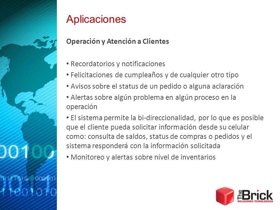 Aplicaciones Operación y Atención a Clientes