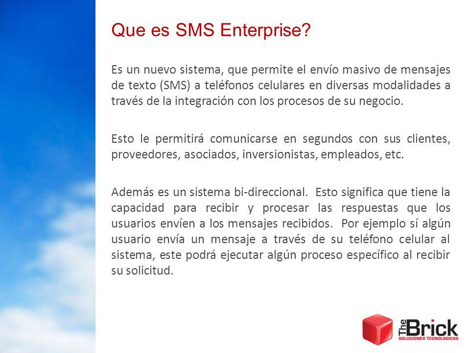 Que es SMS Enterprise