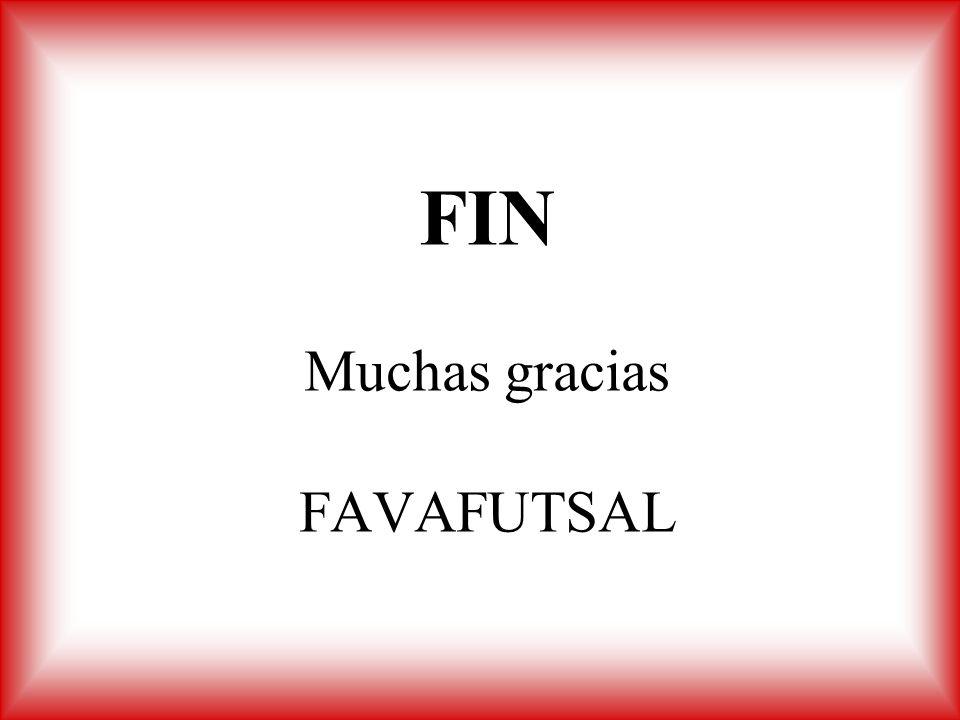 FIN Muchas gracias FAVAFUTSAL