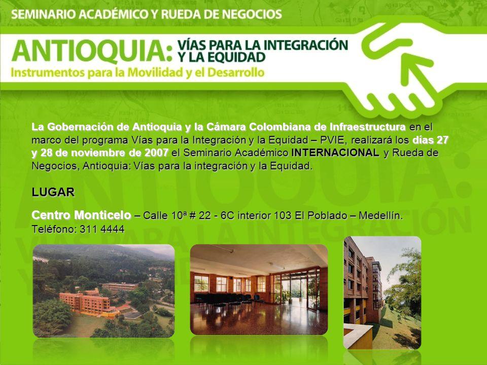 La Gobernación de Antioquia y la Cámara Colombiana de Infraestructura en el