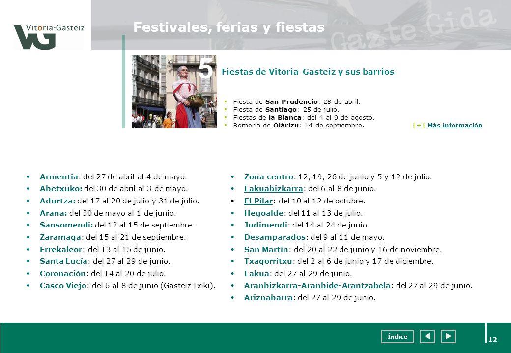 Festivales, ferias y fiestas