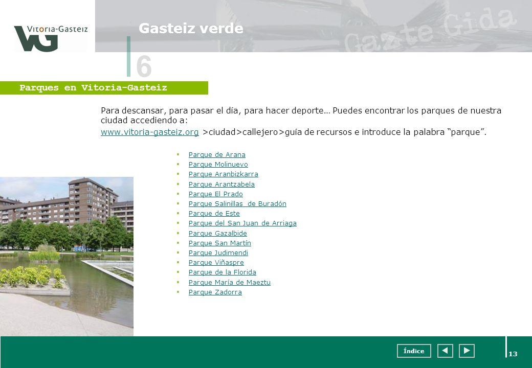 6 Gasteiz verde Parques en Vitoria-Gasteiz