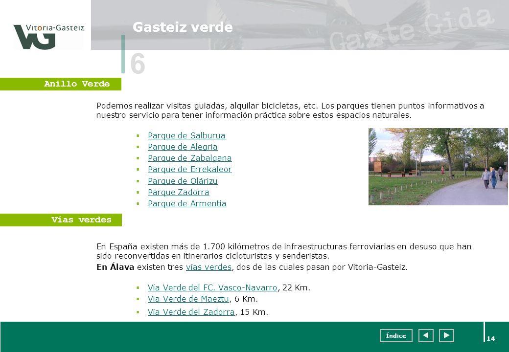 6 Gasteiz verde Anillo Verde Vías verdes