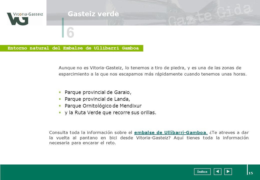 6 Gasteiz verde Entorno natural del Embalse de Ullibarri Gamboa