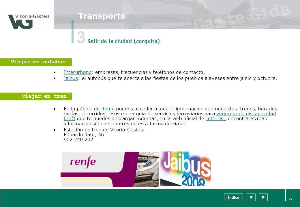 3 Transporte Viajar en autobús Viajar en tren