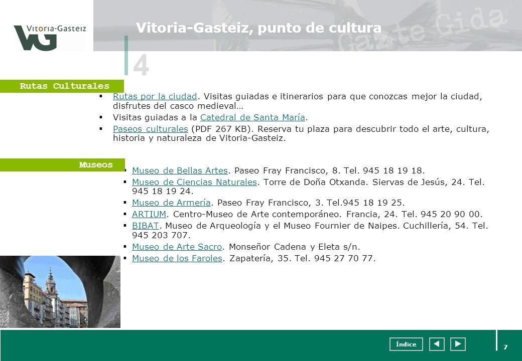 Vitoria-Gasteiz, punto de cultura
