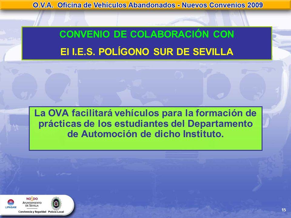 CONVENIO DE COLABORACIÓN CON El I.E.S. POLÍGONO SUR DE SEVILLA