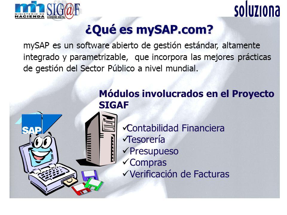 ¿Qué es mySAP.com Módulos involucrados en el Proyecto SIGAF