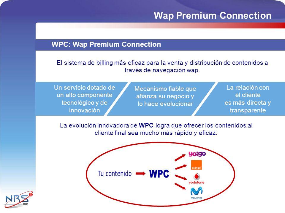 WPC Wap Premium Connection Tu contenido WPC: Wap Premium Connection