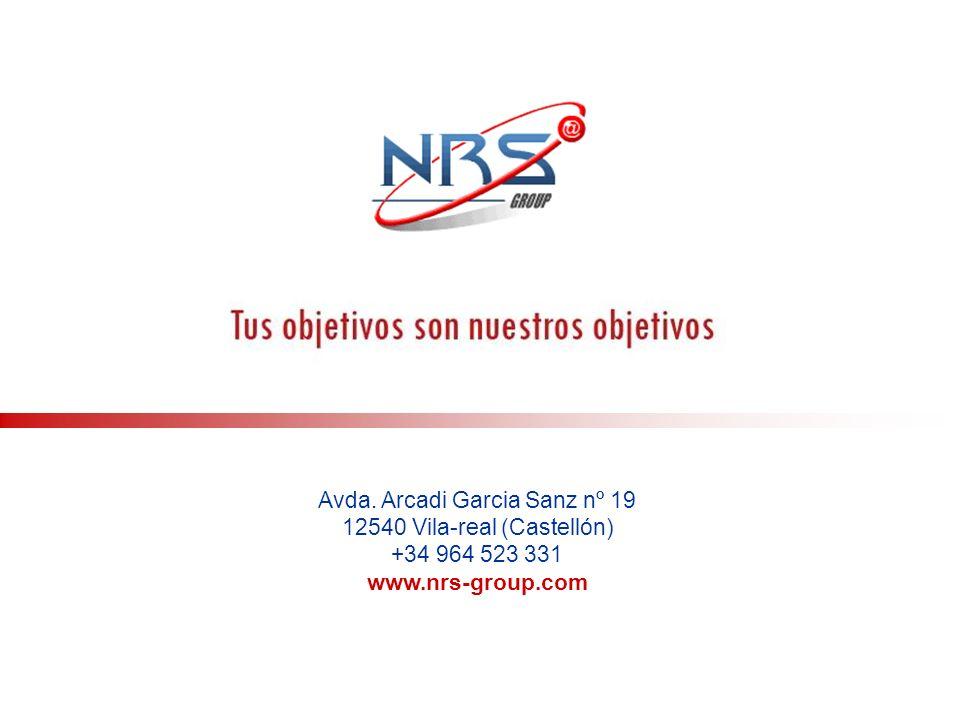 Avda. Arcadi Garcia Sanz nº 19 12540 Vila-real (Castellón)