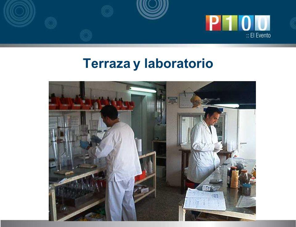 Terraza y laboratorio