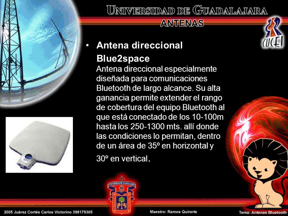 Antena direccional Blue2space Antena direccional especialmente diseñada para comunicaciones Bluetooth de largo alcance.
