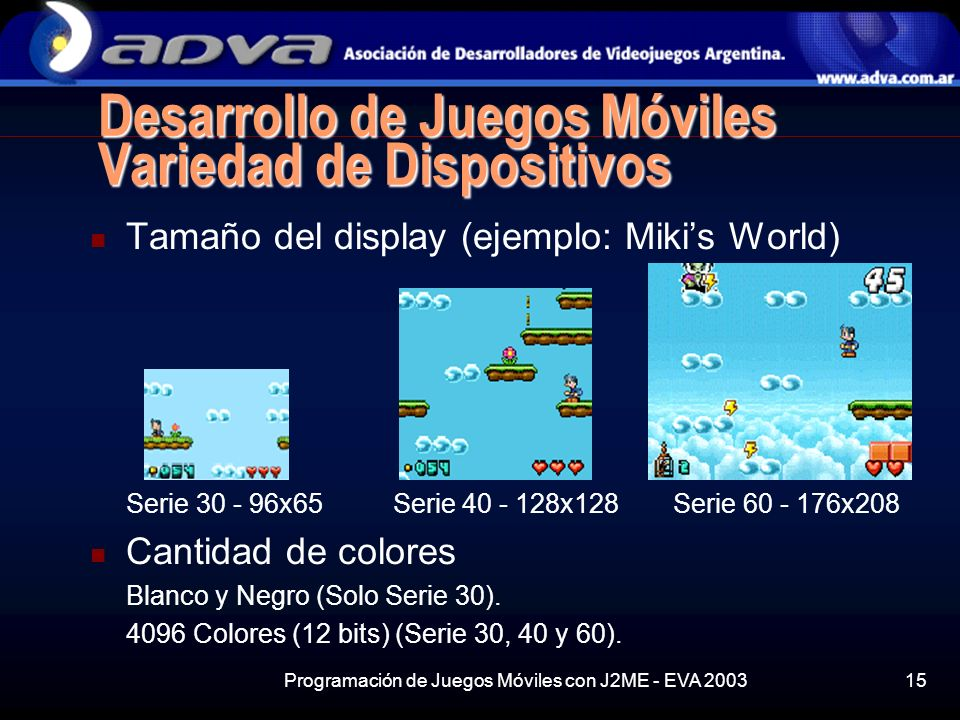 Desarrollo de Juegos Móviles Variedad de Dispositivos