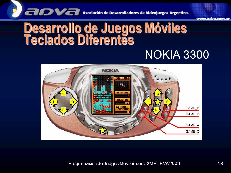 Desarrollo de Juegos Móviles Teclados Diferentes