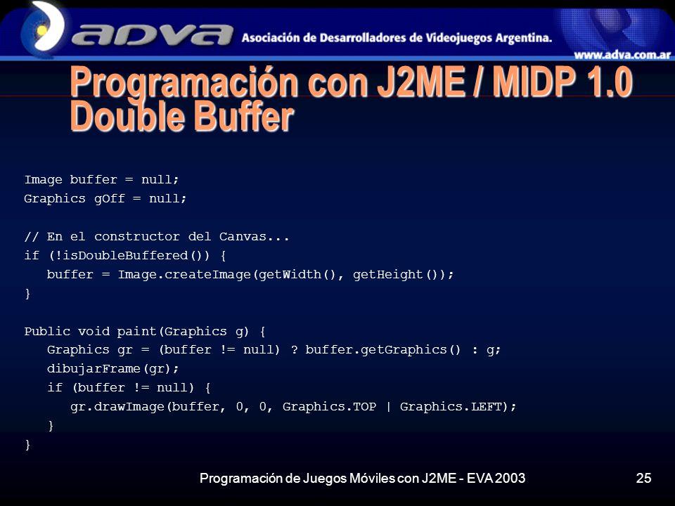Programación con J2ME / MIDP 1.0 Double Buffer