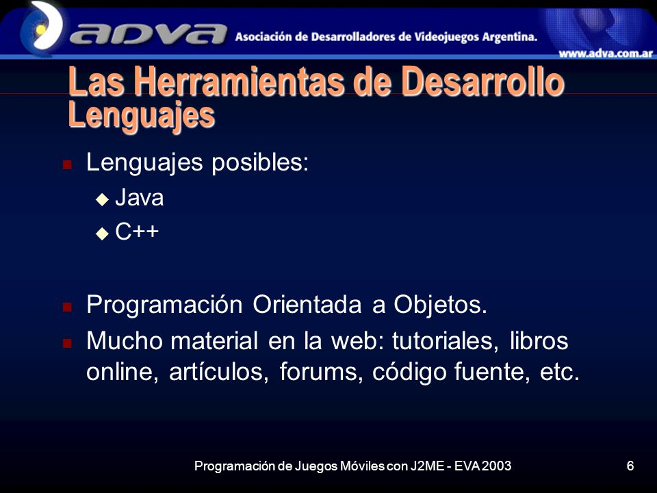 Las Herramientas de Desarrollo Lenguajes