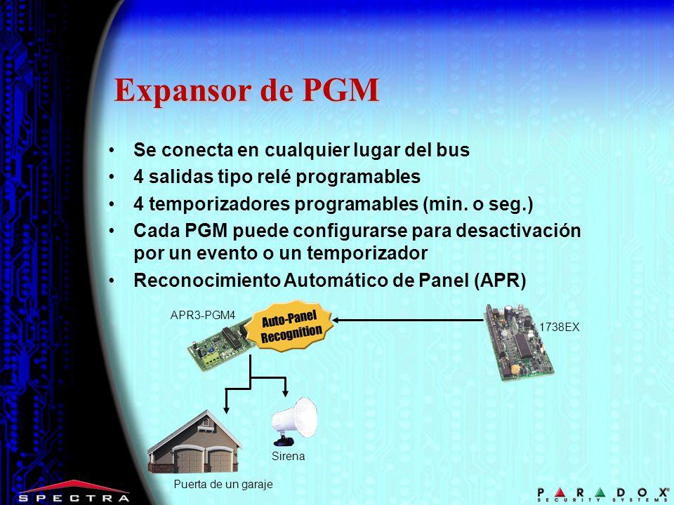 Expansor de PGM Se conecta en cualquier lugar del bus