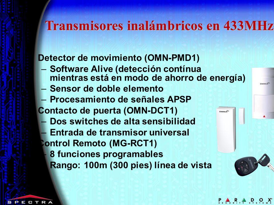 Transmisores inalámbricos en 433MHz