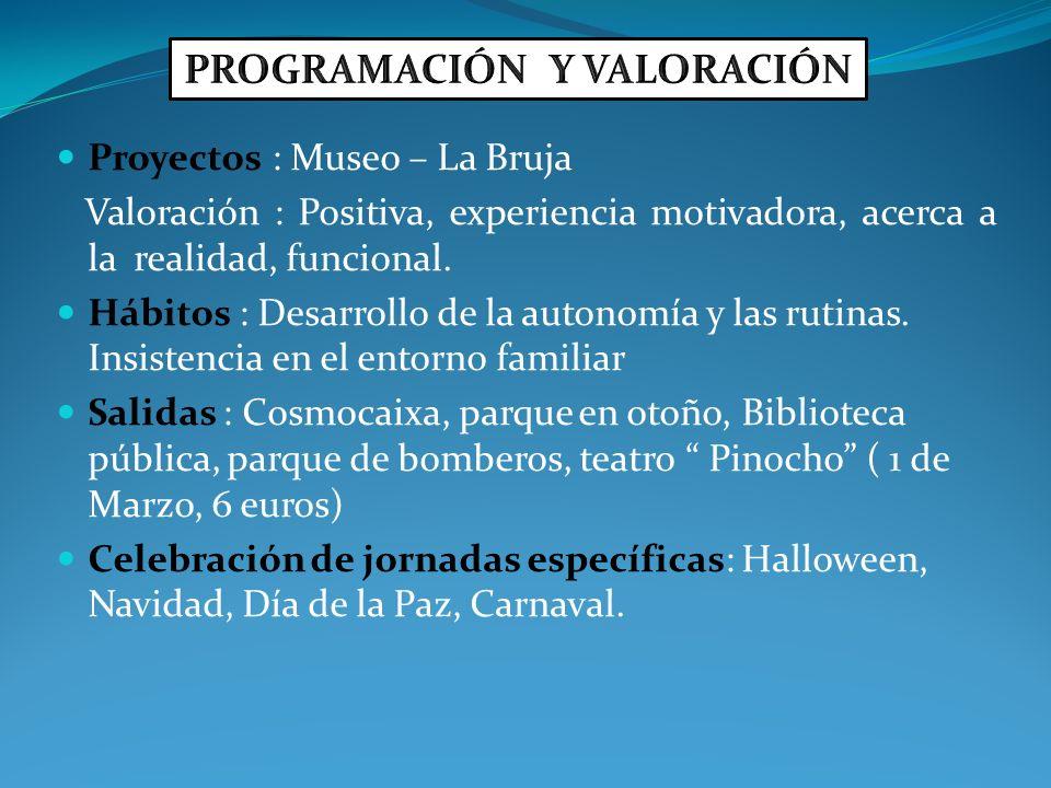 PROGRAMACIÓN Y VALORACIÓN