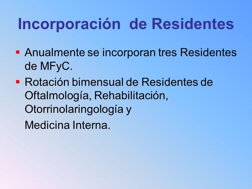 Incorporación de Residentes