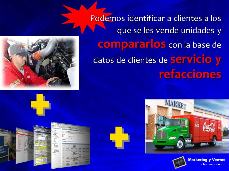 Podemos identificar a clientes a los que se les vende unidades y compararlos con la base de datos de clientes de servicio y refacciones