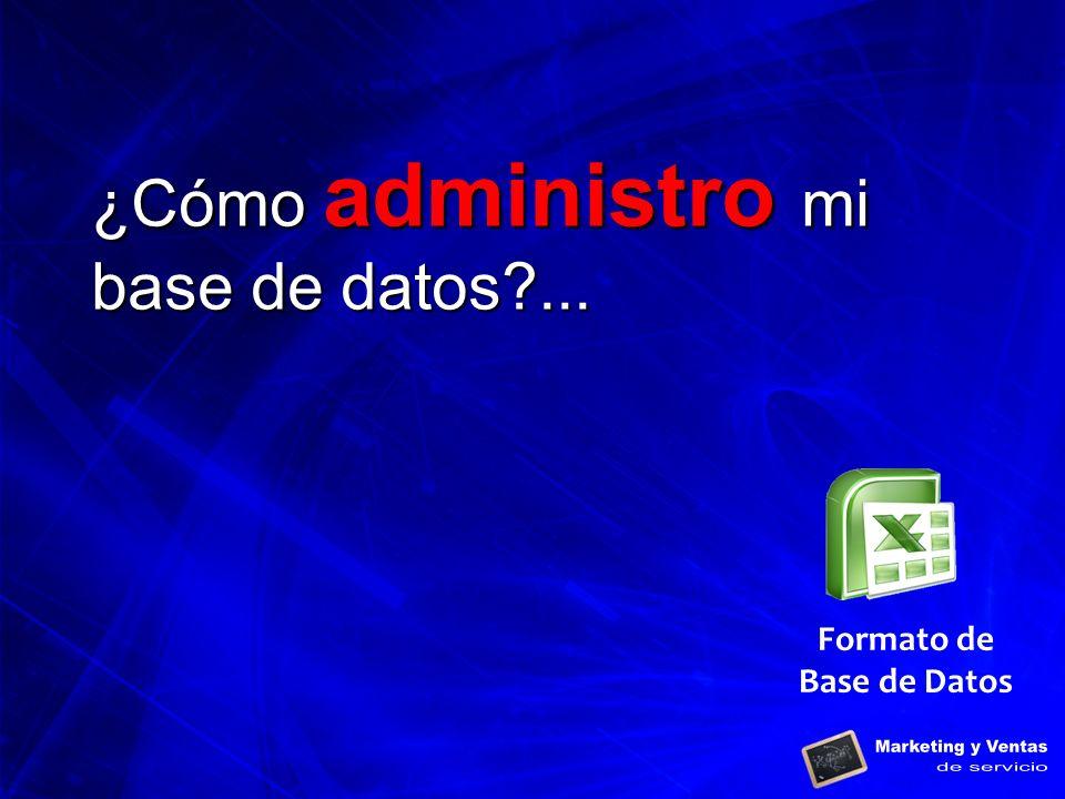 Formato de Base de Datos