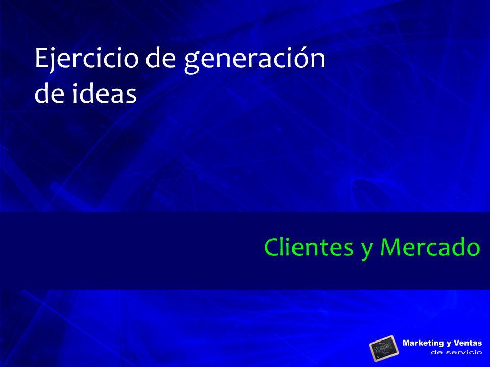 Ejercicio de generación de ideas