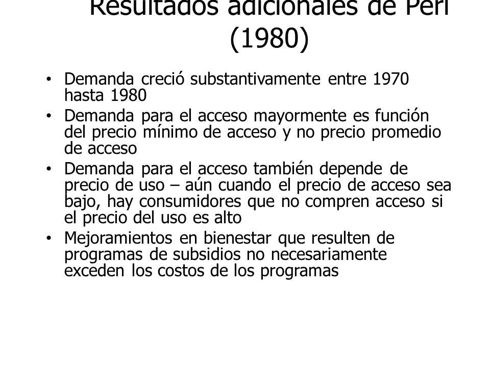 Resultados adicionales de Perl (1980)
