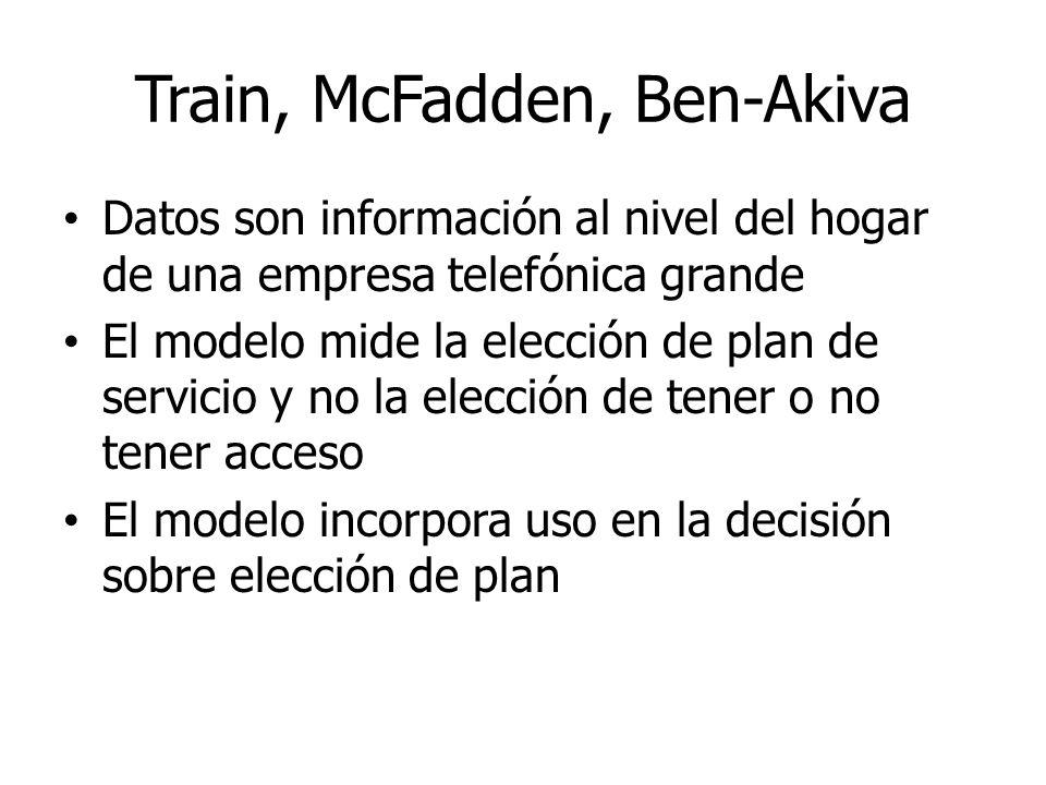 Train, McFadden, Ben-Akiva