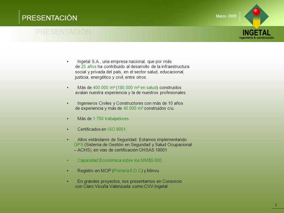 PRESENTACIÓN Ingetal S.A., una empresa nacional, que por más