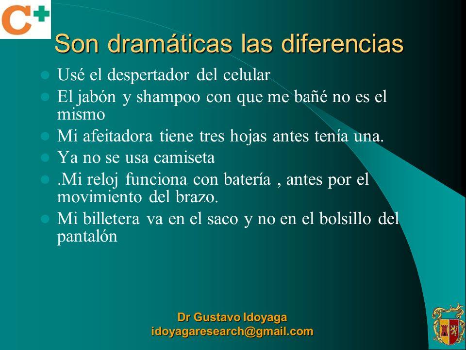 Son dramáticas las diferencias