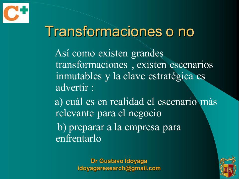 Transformaciones o no