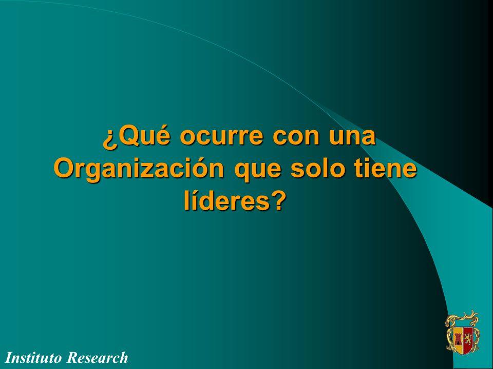 ¿Qué ocurre con una Organización que solo tiene líderes