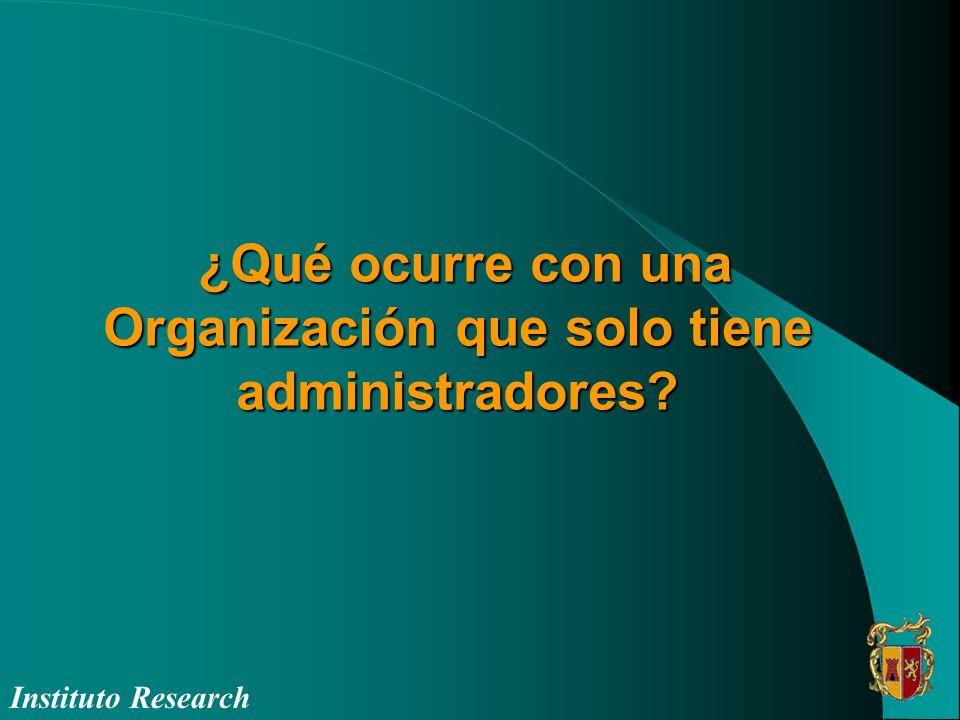 ¿Qué ocurre con una Organización que solo tiene administradores