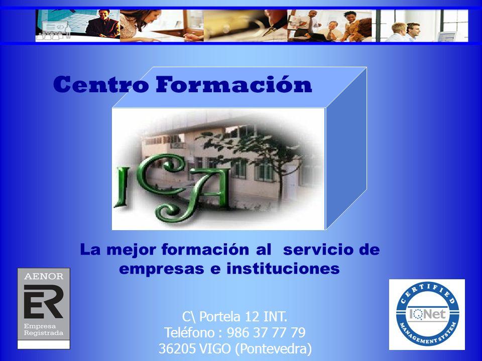 La mejor formación al servicio de empresas e instituciones