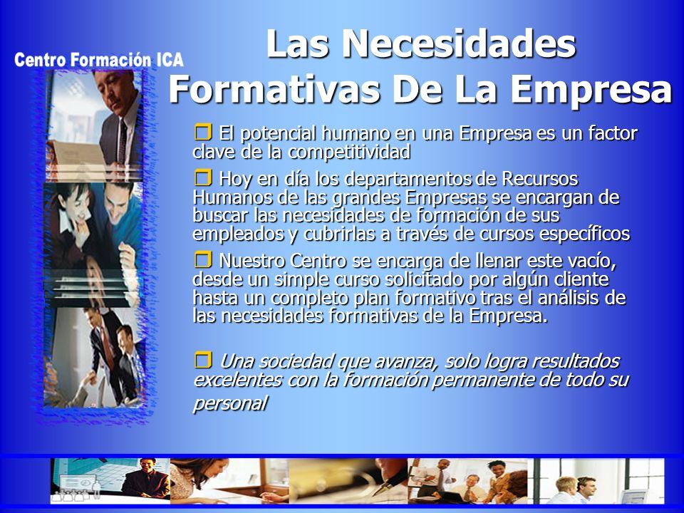 Las Necesidades Formativas De La Empresa