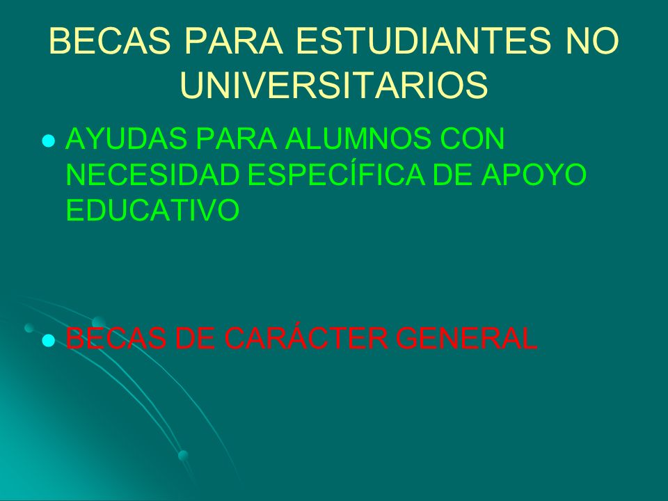 BECAS PARA ESTUDIANTES NO UNIVERSITARIOS