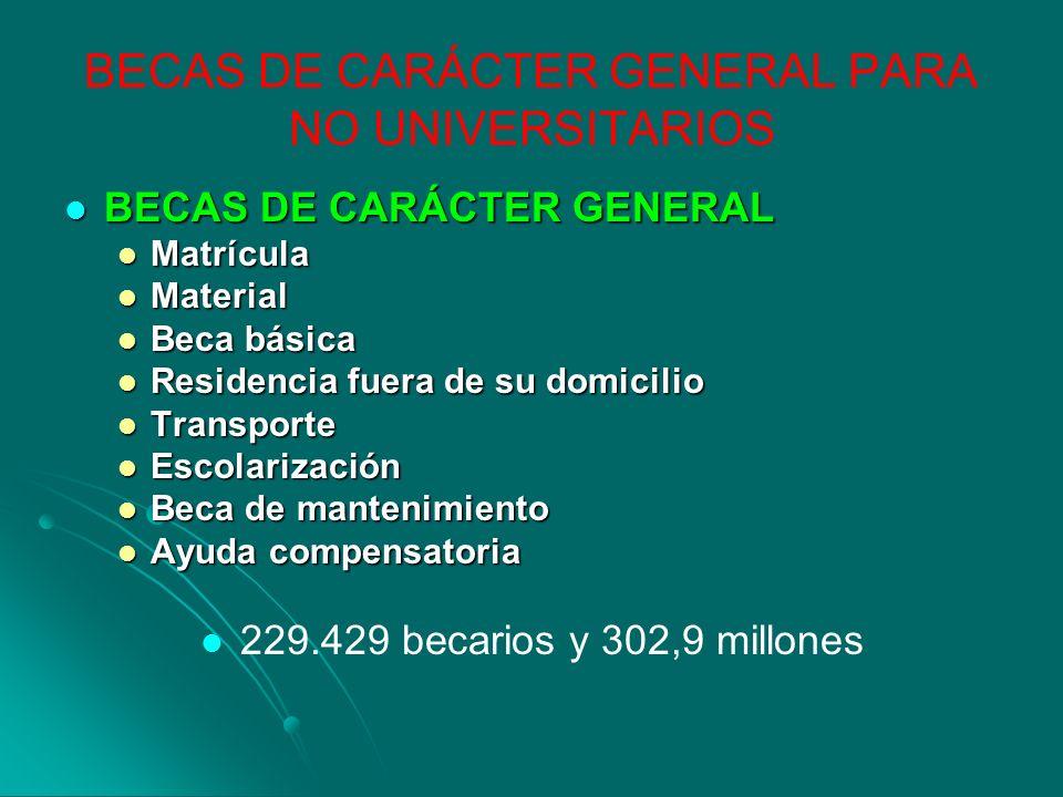 BECAS DE CARÁCTER GENERAL PARA NO UNIVERSITARIOS