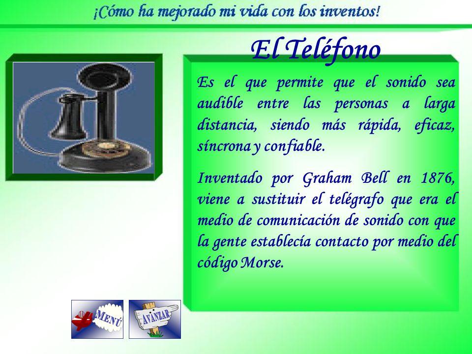 El Teléfono Es el que permite que el sonido sea audible entre las personas a larga distancia, siendo más rápida, eficaz, síncrona y confiable.