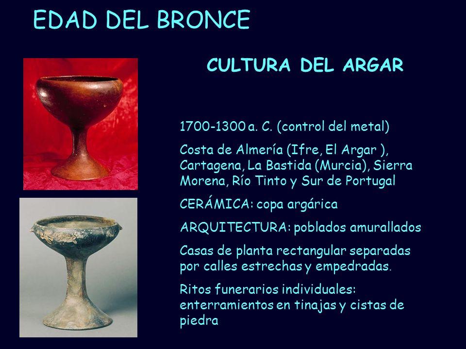 EDAD DEL BRONCE CULTURA DEL ARGAR 1700-1300 a. C. (control del metal)