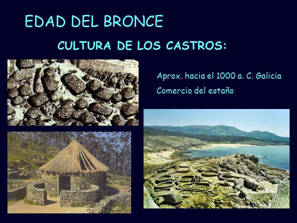 EDAD DEL BRONCE CULTURA DE LOS CASTROS: