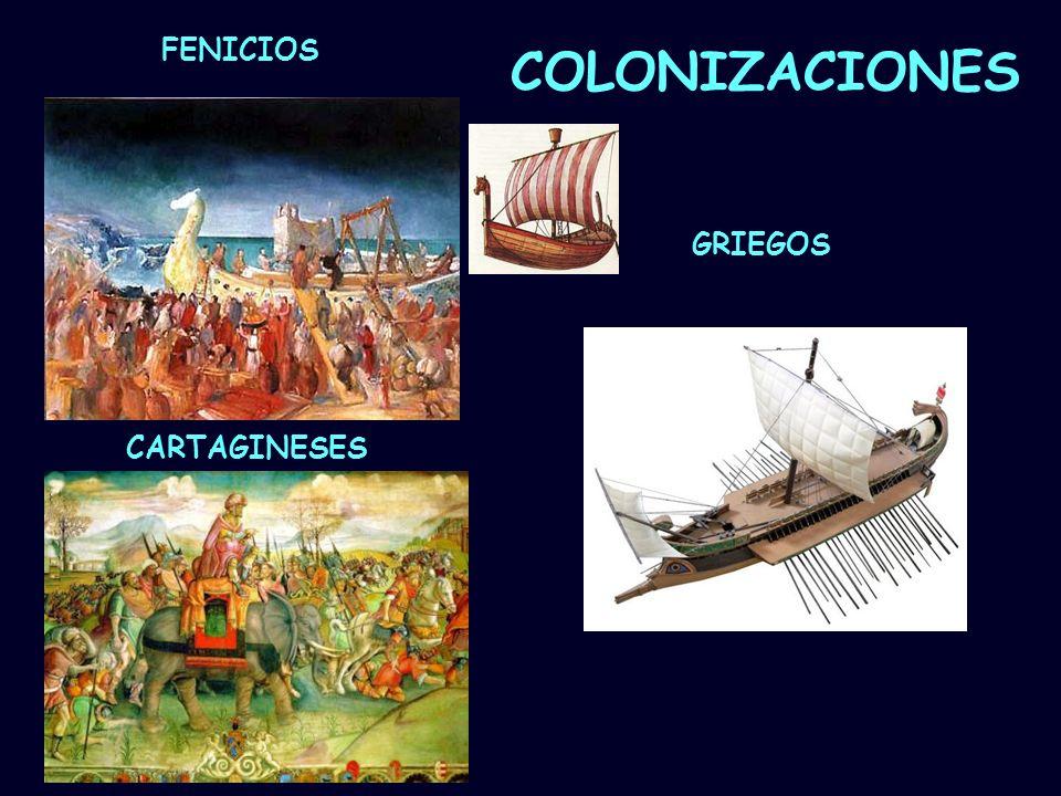 FENICIOS COLONIZACIONES GRIEGOS CARTAGINESES Mª Vvictoria Landa